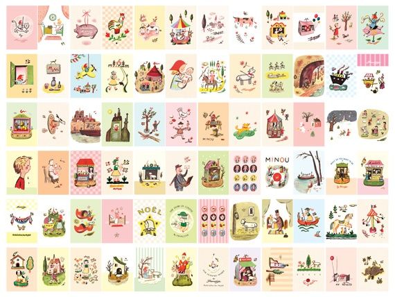 MochiThings.com: Small Zoo Vintage Label Sticker Set