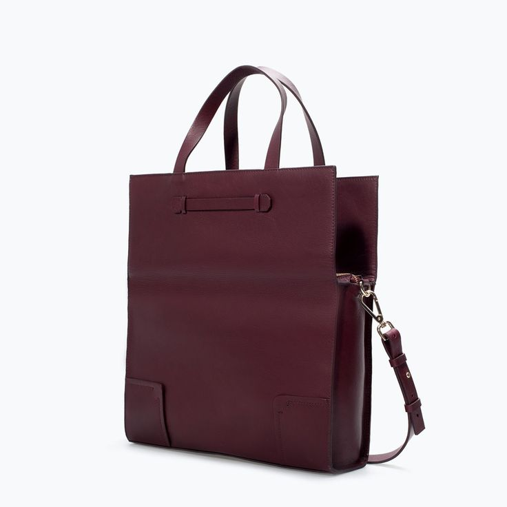 LEATHER SHOPPER BAG from Zara