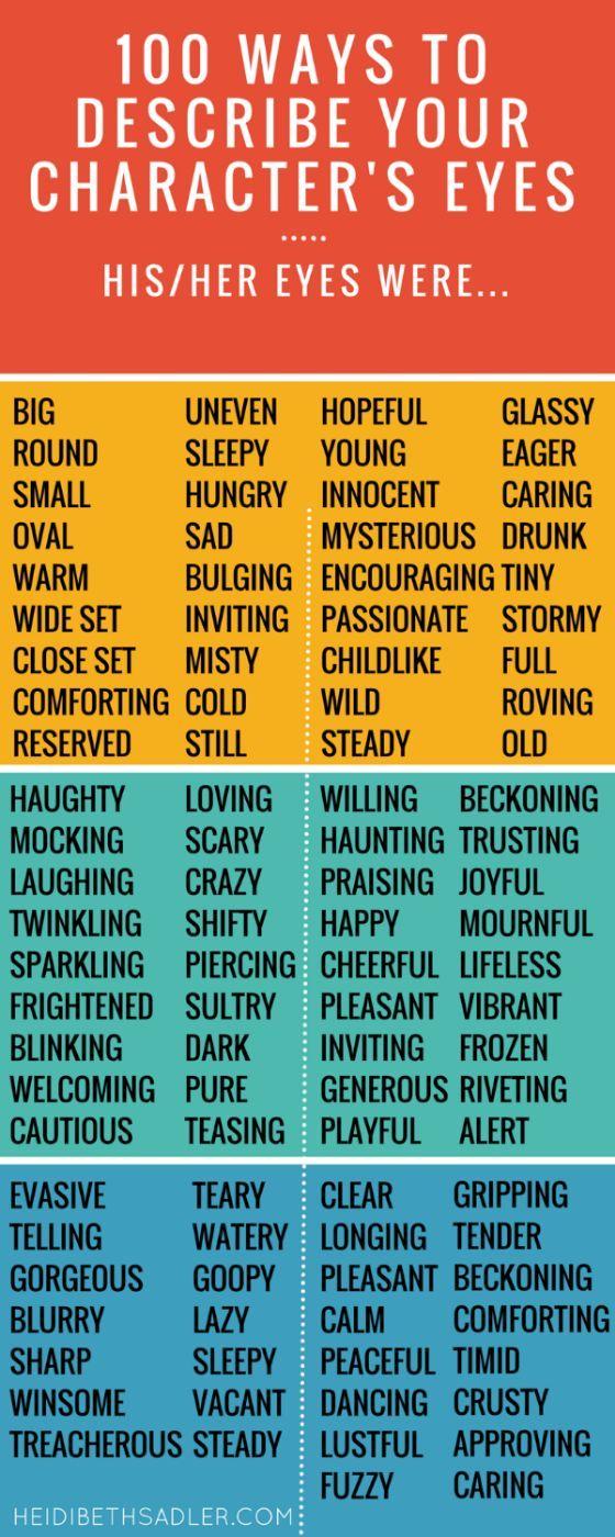 Romantic describing words