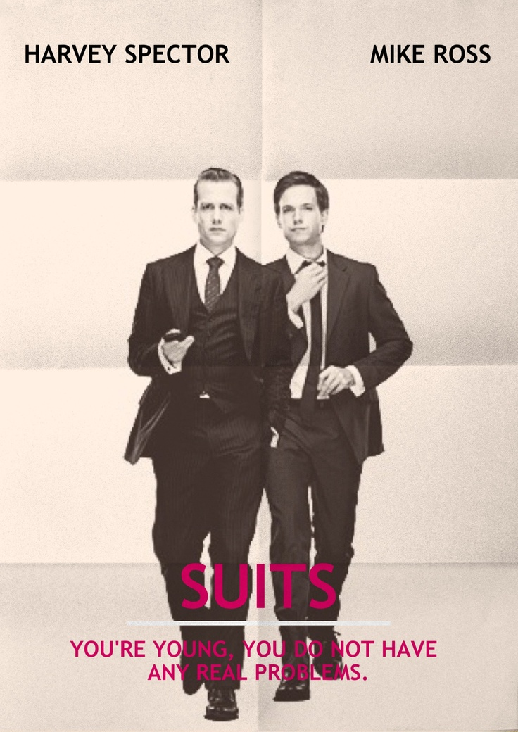 Harvey Spector and Mike Ross - Suits by lespetitesrobesnoires.com #phoster