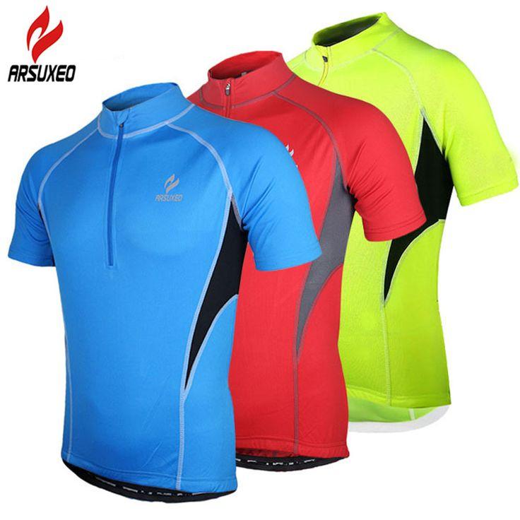 Arsuxeo Men's Anti-sweat Quick-dry Short Sleeve Shirt MTB Mountain Bike Cycling Jerseys Climbing Cycling Equipment Sweat Shirt #Affiliate