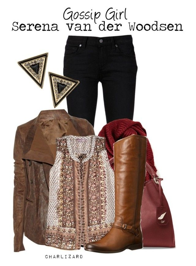 Serena van der Woodsen by charlizard on Polyvore featuring Calypso St. Barth, Rick Owens, Paige Denim, Frye, Diane Von Furstenberg, House of Harlow 1960, gossipgirl, TV and serenavanderwoodsen