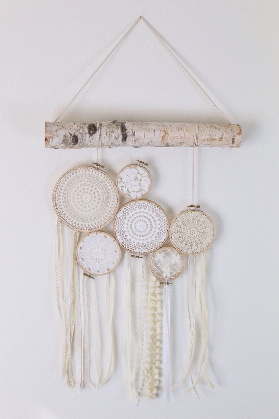 baby decor lace wall hanging wall hanging lace by TheGlitteredBarn