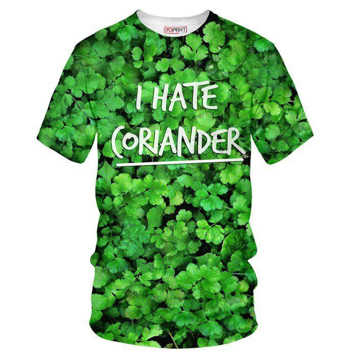 How to hate Corianderin style? I hate coriander tee t shirt yoprnt clothing #coriander