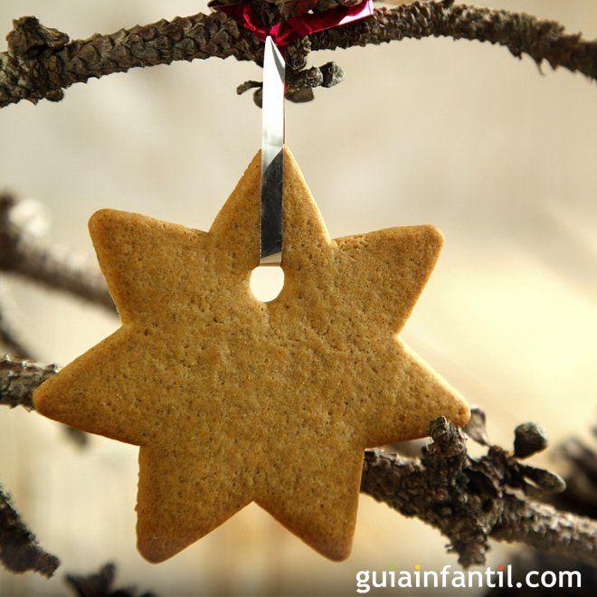 Estrella de galleta de jengibre para la Navidad