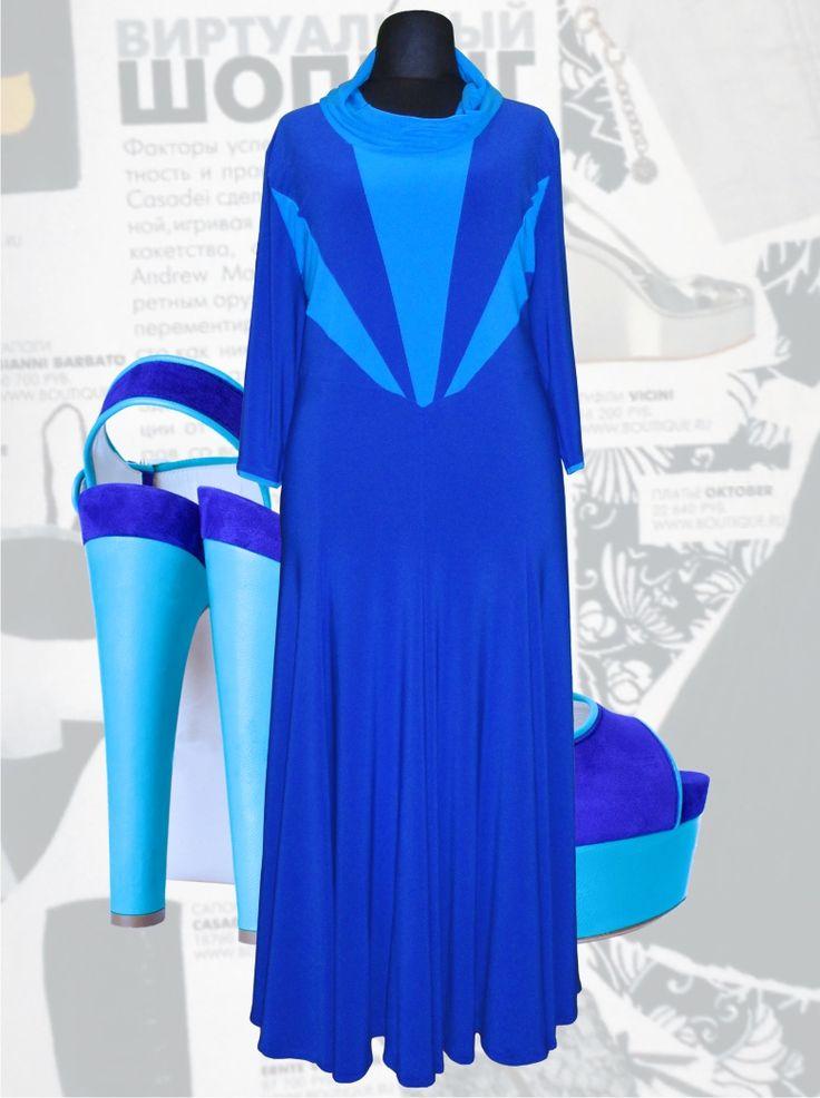 42$ Нарядное трикотажное платье для полных женщин больших размеров с юбкой годе и треугольными вставками голубого цвета Артикул 619, р50-64 Платья больших размеров  Платья в пол больших размеров  Летние платья больших размеров Платья макси больших размеров  Трикотажные платья больших размеров  Длинные платья больших размеров  Платья нарядные больших размеров  Дизайнерские платья больших размеров Красивые платья больших размеров  Модные платья больших размеров  Стильные платья больших…