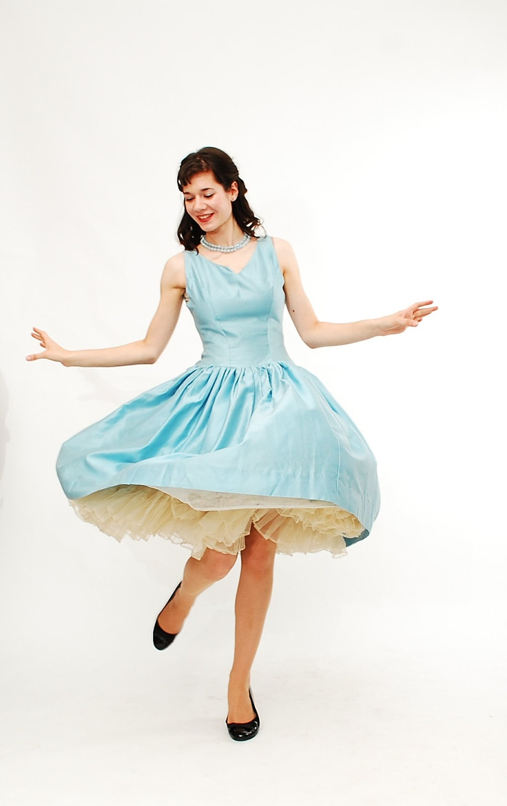 Vintage 1950s Party Dress - 50s Bridesmaid Dress - Sky Blue. $198.00, via Etsy.  Possibly, but I'm not sure yet