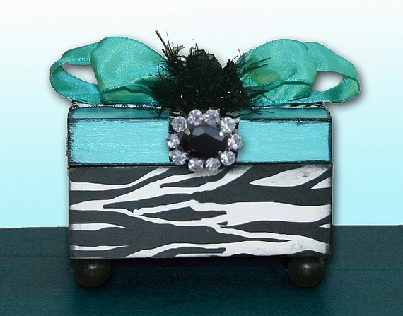Decorative Zebra Jewelry Box