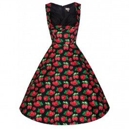 Robe Pin-Up Rétro 50's Rockabilly Ophelia Fraises