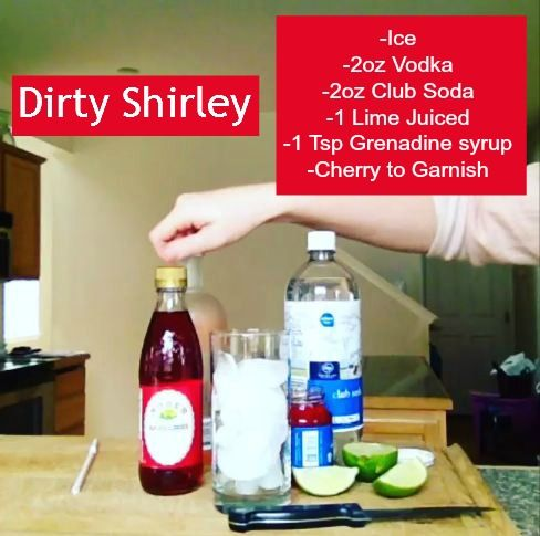 Dirty Shirley in honor of the late Shirley Temple: Alcohol Drinks, Dirty Shirley, Shirley Temples, Late Shirley
