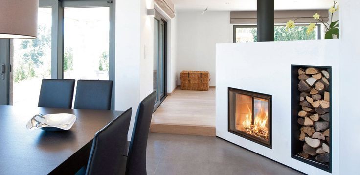 Wood heating stove / contemporary / metal / double-sided KONTURO COMPACT  BODART & GONAY