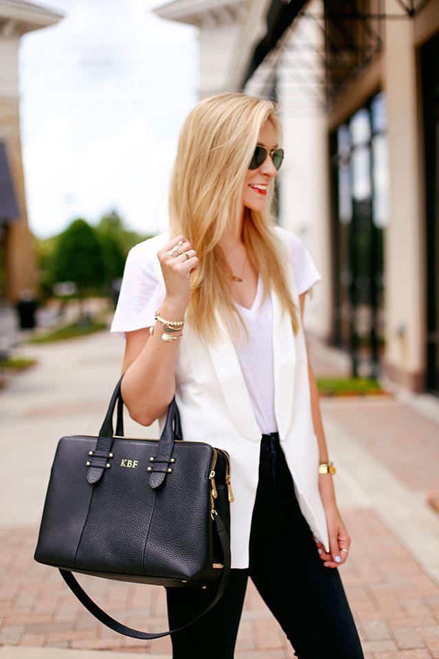 GiGi New York | A Pinch of Lovely Fashion Blog | Black Parker Satchel