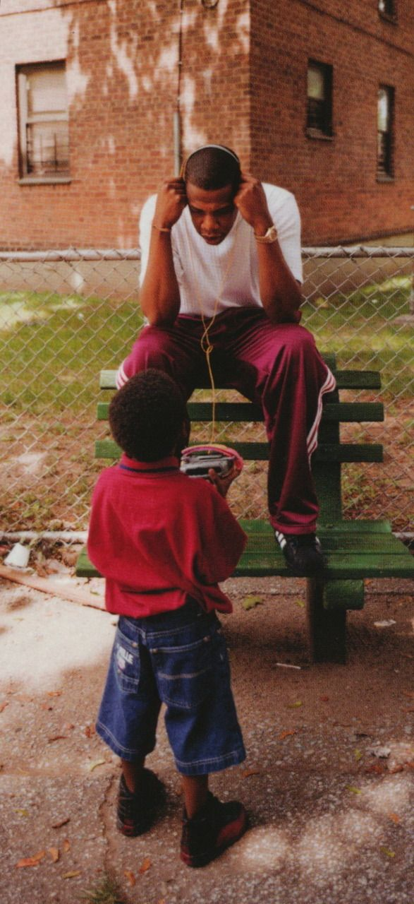 Back in the day Jay Z sat on the bench in Marcy Projects NYC