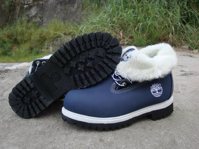 Blue Ladies Timberland Boots
