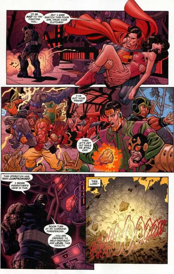 Superboy vs Supergirl   powergirl,supergirl and superboy vs darkseid