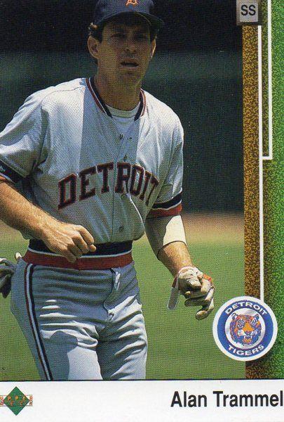 1989 Upper Deck Baseball Card Tigers Alan Trammell