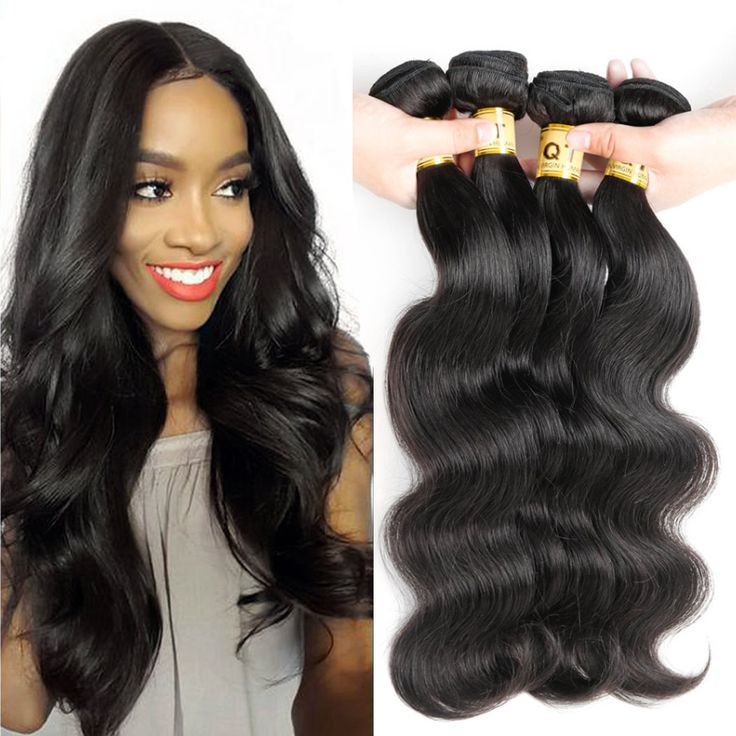 """10A Grade Unprocessed Brazilian Body Wave 4 Bundles 100% Virgin Remy Brazilian Body Wave Hair Queen Hair Company Unprocessed Wave Hair(Natural Color,16"""" 16"""" 18"""" 18"""") -- Awesome products selected by Anna Churchill"""