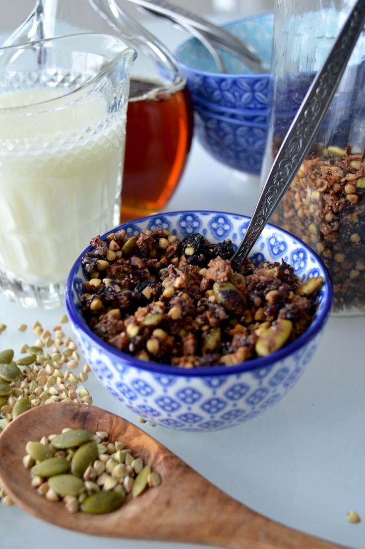 Granola de sarrasin aux bleuets (vegan & sans gluten) - Le Sarrasin Végétalien