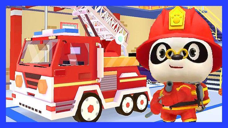 Пожарная команда спешит на помощь! Мультик про пожарную машину и спасате...