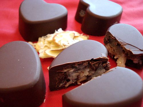 Scratch Made Almond Joys!: Valentines Ideas, Homemade Chocolates, Heart Shape, Almond Joy, Almonds Joy, Valentines Day, Joy Heart, Chocolates Heart, Serious Eating