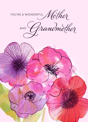 Mother and Grandmother Flowers Mother's Day Card