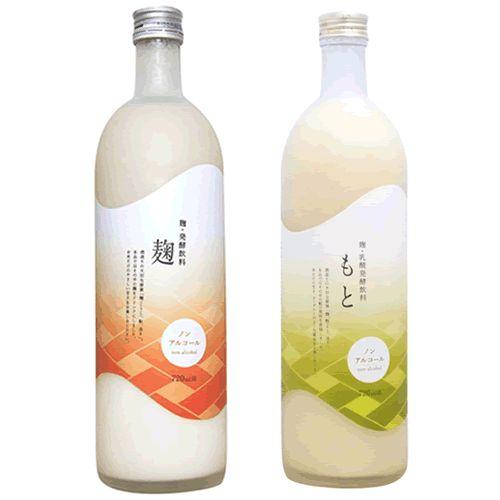 全量純米蔵「今代司酒造」のあまざけ。  麹のあまざけと、もとをアルコール抜きで再現したという、麹乳酸発酵飲料。さかすけ(※本品では、新潟県醸造試験場で開発した酒粕乳酸発酵食品「さかすけ」を使用しています。  「さかすけ」とは、高品質な新潟清酒から製造される栄養・機能性成分たっぷりの酒粕を、  独自 の乳酸菌、特殊な製法技術を用いることで栄養・機能性成分を増強した乳酸発酵酒粕のことです。)って最近よく聞くな。このラベルは手貼かな。綺麗。720ml 1260円/1575円
