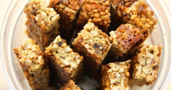 Kuchnia bezglutenowa: Batoniki orzechowe - bez mąki, mleka i tłuszczu