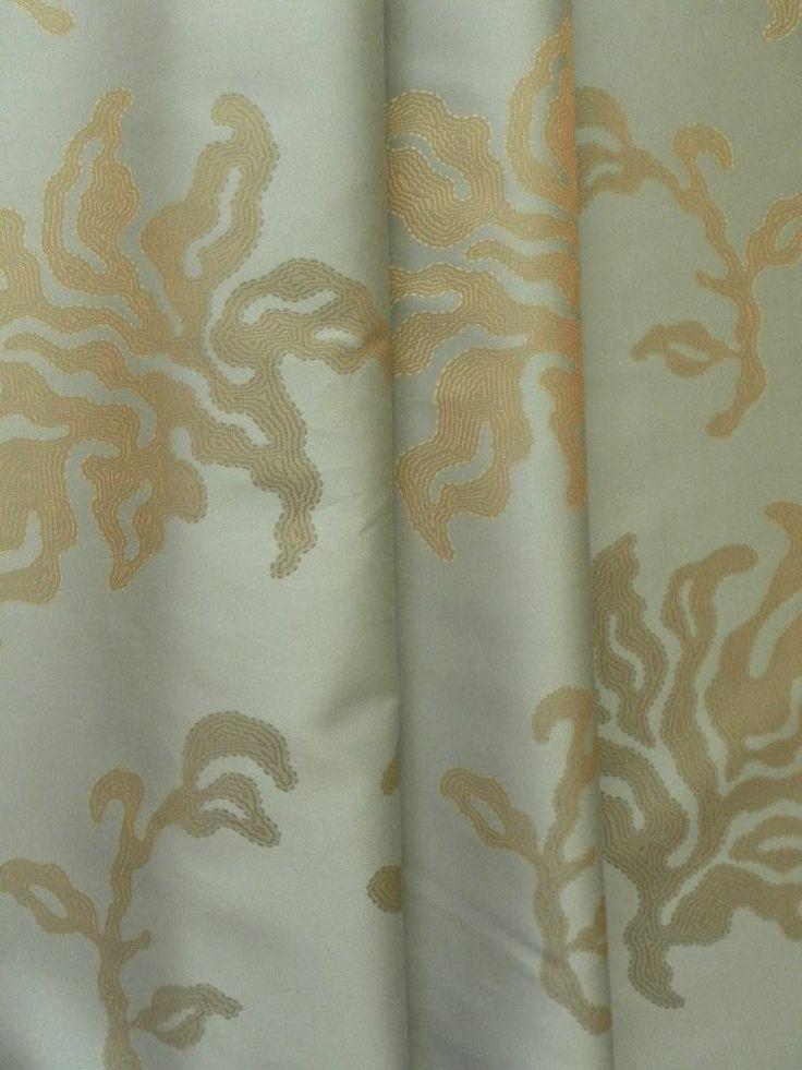 Zoffany Fabric GAIA 1.1m Stunning Woven Design Teal/Eau de Nil