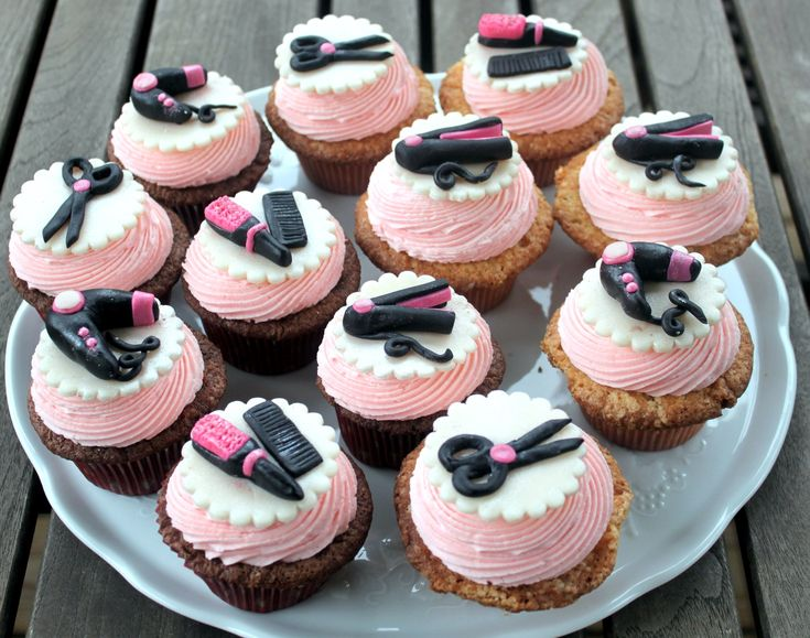 hairdresser cupcakes
