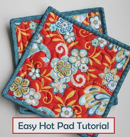 Easy Hot Pad Tutorial from The Fabric Mill's blog  & another use for grandma's orphan blocks!