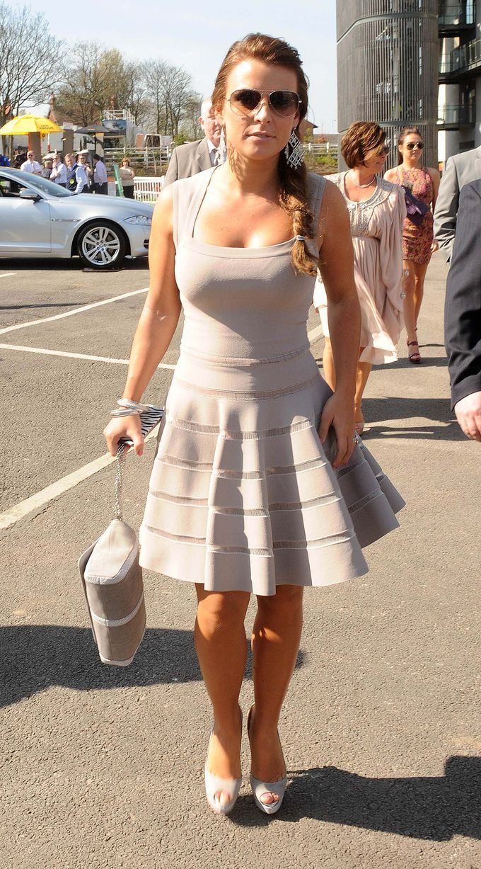Coleen Rooney arrives at Aintree for the Grand National 2011