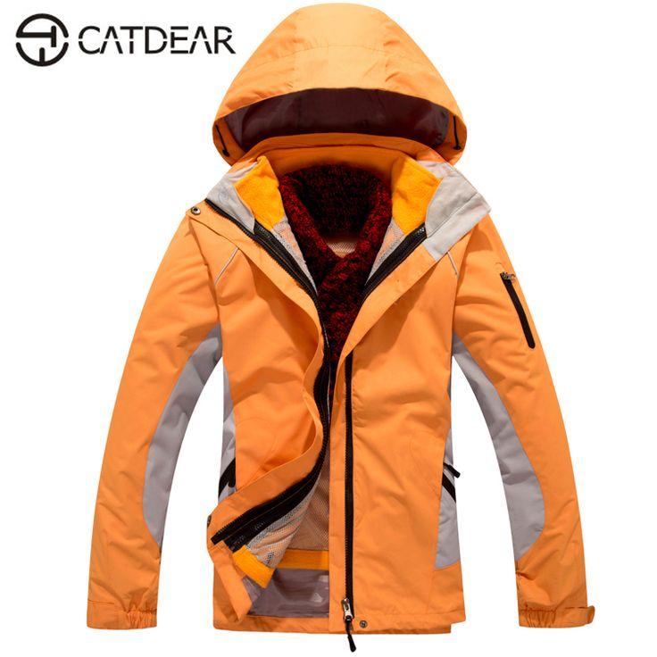CATDEAR Women Winter Outdoor Snowboard Ski Jacket Women springtime Softshell 3 in 1outdoor Mountaineering Camping Hiking Jacket #Affiliate