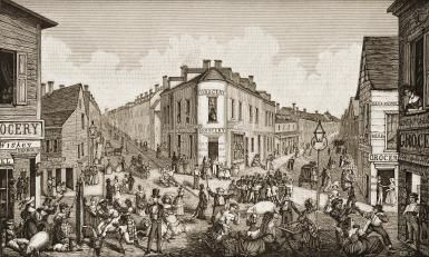 How Five Points Became New York's Most Notorious Neighborhood: The Five Points depicted circa 1829