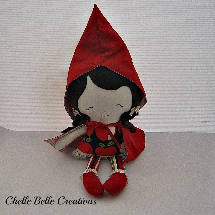 Red Riding Hood Soft Doll     Pattern by Dolls and Daydreams    www.madeit.com.au/chellebelle