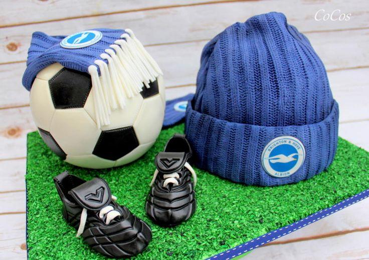 football /soccer cake  by Lynette Brandl