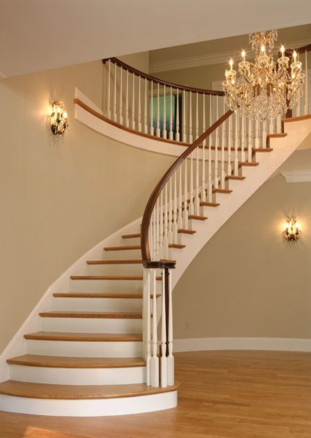 17 best images about beautiful home interiors on pinterest for Curved stair case