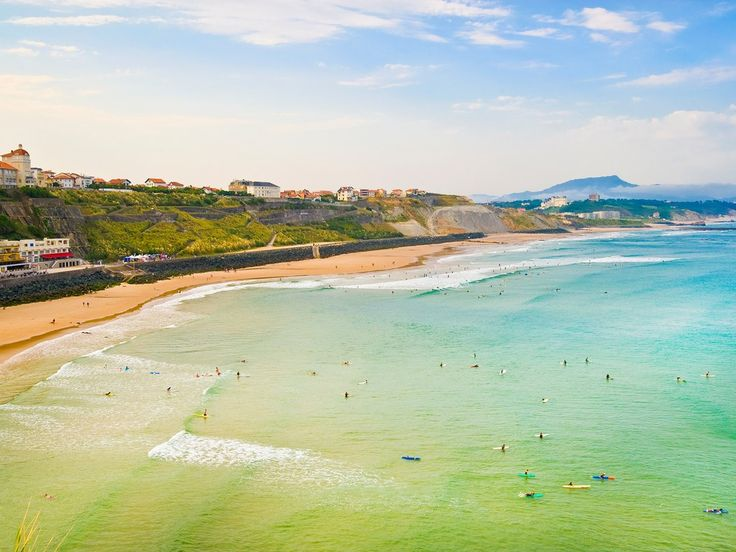 """Best Beaches in France. A renowned summer getaway for royals and celebrities alike (you might remember it from Hemingway's The Sun Also Rises), the """"wild beaches"""" of Biarritz, in Basque country along the Bay of Biscay, are also hugely popular with surfers thanks to their mellow, safe-for-beginners waves."""