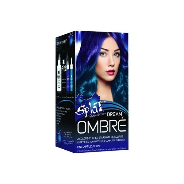 Splat Hair Color Ombre Dream Purple Stars Blue Dreams Hair Color