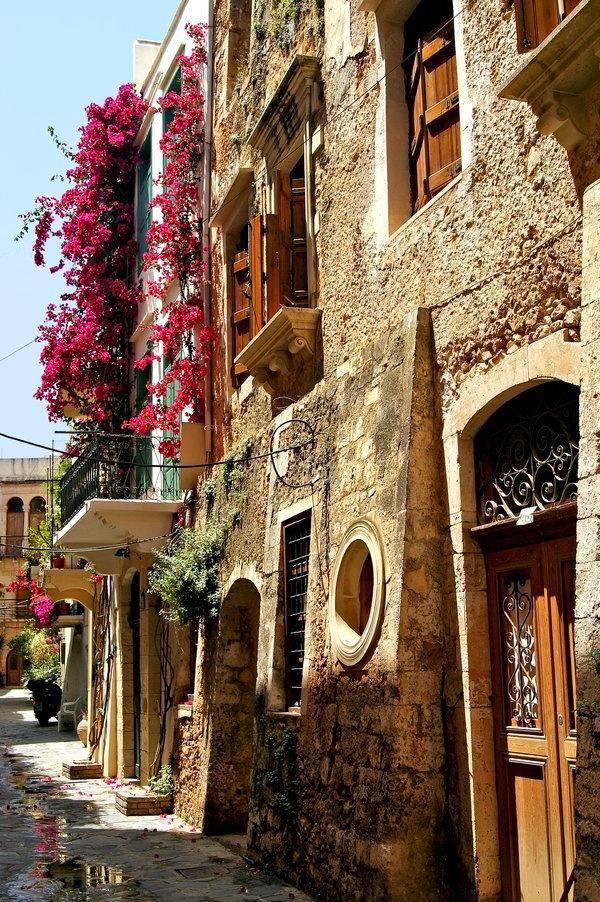 Sunday strolling in Chania, Crete Island, Greece