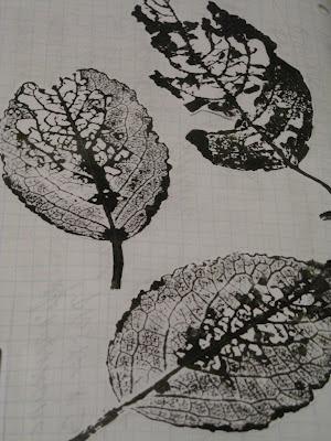 Leaves stamp...