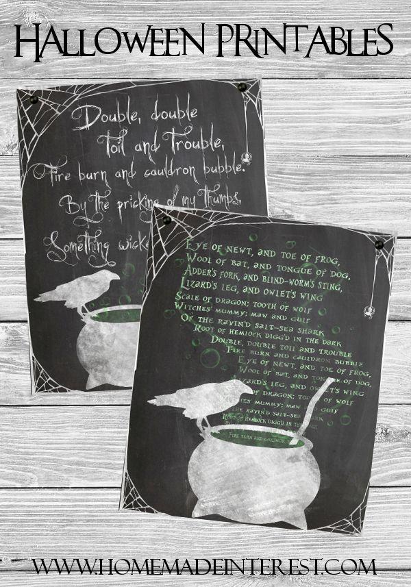 Best Halloween Prints Ideas On Pinterest Free Halloween - Cool chalkboard halloween decor