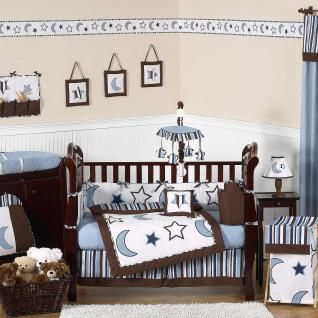 Stars And Moons Baby Bedding