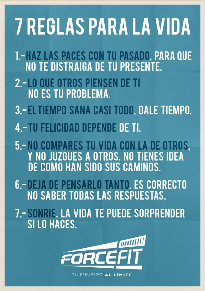 #Reglas #Vida #Motivacion #Inspiracion #Crossfit #Fitness #Frases 7 Reglas para la Vida