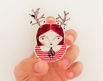 Antler hat, shrink plastic brooch, beautiful hat collection