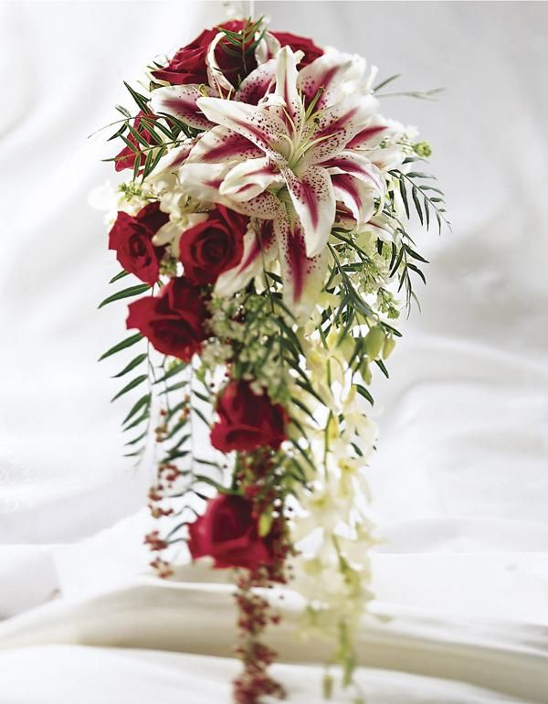 #red roses wedding bouquet.. For budget wedding ideas for brides, grooms, parents & planners ... https://itunes.apple.com/us/app/the-gold-wedding-planner/id498112599?ls=1=8 ♥ The Gold Wedding Planner iPhone App ♥