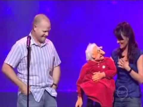 Funny VIDEO:  Nina Conti and her Grandmother - on YouTube;  She's a funny ventriloquist.  :D
