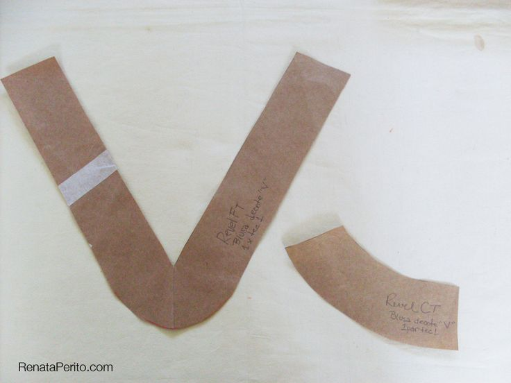 """Como fazer acabamento de decote """"V"""""""