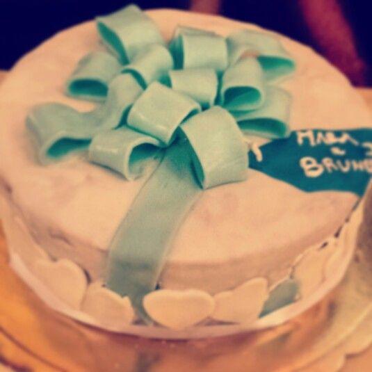 Cake ribbon blu