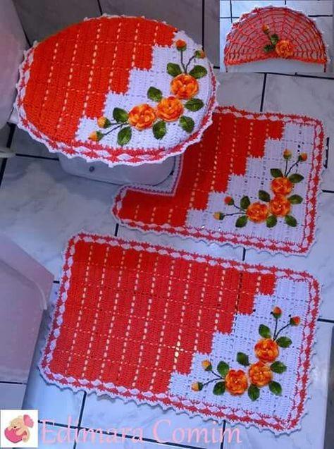 Jogo De Banheiro Classic Rosa Passo A Passo : Melhores ideias de tapete retalho no