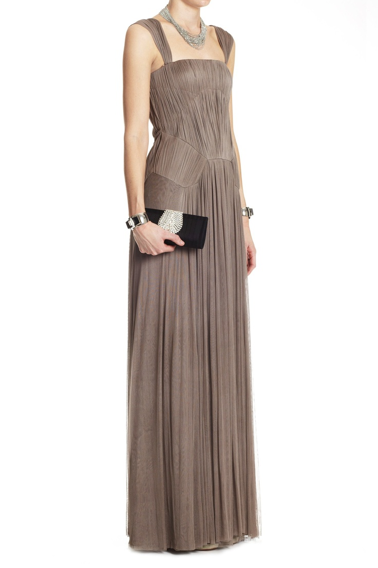 Warehouse Sale - SILK TULLE ROUCHED BODICE GOWN - Lisa Ho